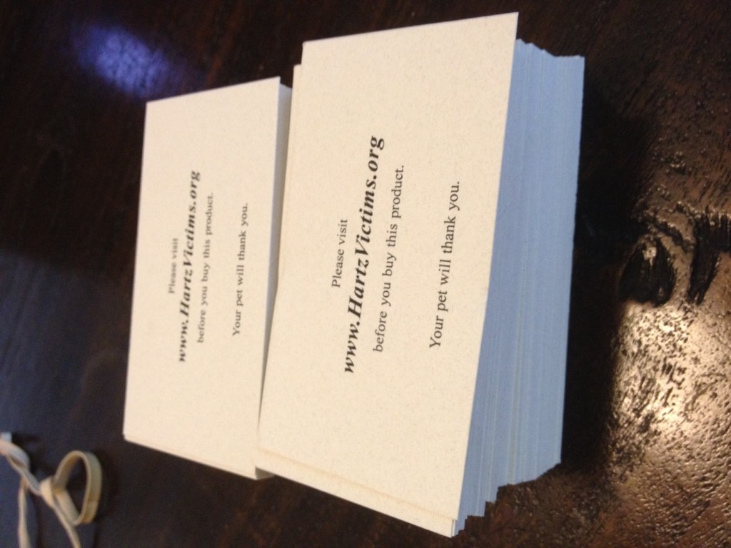HartzVictims.org business cards